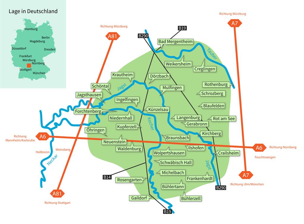 Hohenlohe Karte