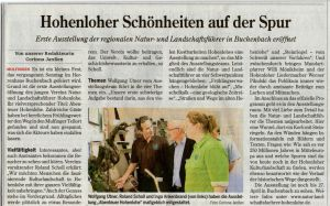 Ausstellung-Buchenbach-Hohenloher-Zeitung-16.4.14